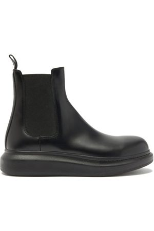 Alexander McQueen Hybrid Exaggerated-sole Leather Chelsea Boots - Mens - Black
