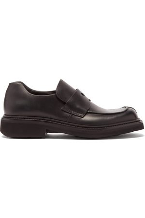 Prada Heren Loafers - Chunky-sole Leather Loafers - Mens - Black