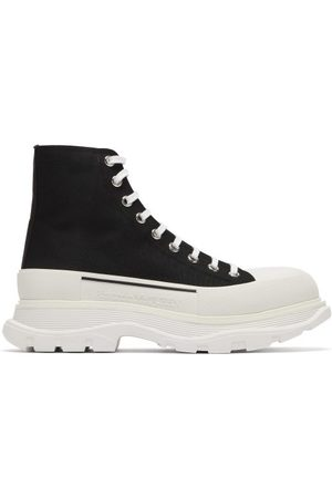 Alexander McQueen Chunky-sole Canvas Trainers - Mens - Black White