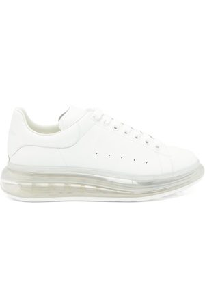 Alexander McQueen Raised Bubble-sole Leather Trainers - Mens - White