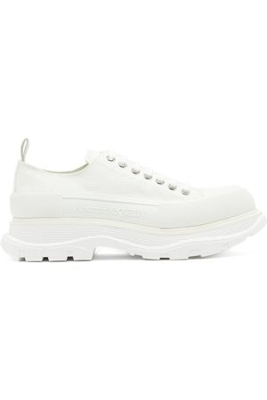 Alexander McQueen Chunky-sole Canvas Trainers - Mens - White