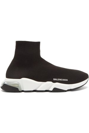 Balenciaga Speed Sock Trainers - Mens - White Black