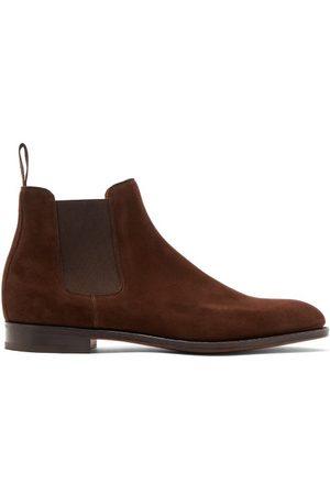 JOHN LOBB Lawry Suede Chelsea Boots - Mens - Brown