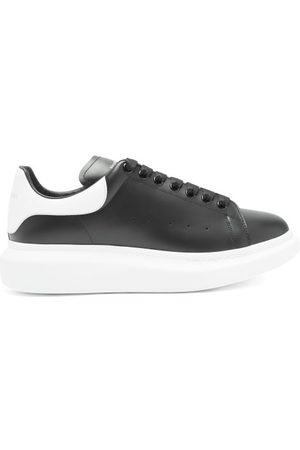 Alexander McQueen Raised-sole Leather Trainers - Mens - Black White