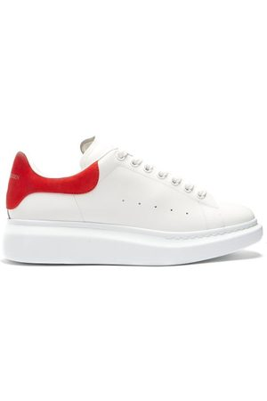 Alexander McQueen Raised-sole Low-top Leather Trainers - Mens - White Multi