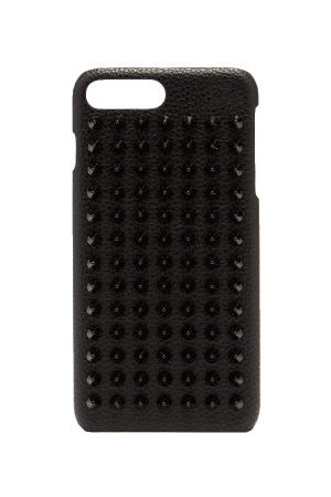Christian Louboutin Heren Telefoon - Loubiphone Spike Leather Iphone® 7+/8+ Case - Mens - Black