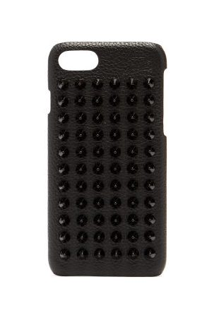 Christian Louboutin Loubiphone Spike Leather Iphone® 7/8 Case - Mens - Black