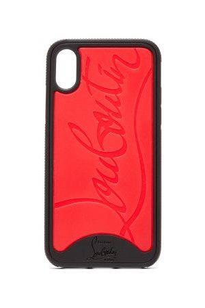 Christian Louboutin Loubiphone Rubber Iphone® X/xs Case - Mens - Black Red