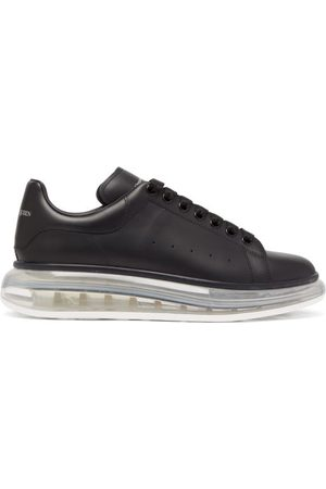 Alexander McQueen Raised Bubble-sole Leather Trainers - Mens - Black