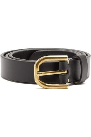 Raey Slim Bridle-leather Belt - Mens - Black
