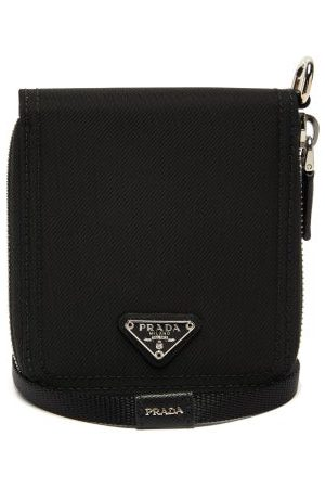 Prada Heren Kettingen - Nylon And Saffiano-leather Necklace Wallet - Mens - Black