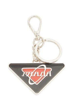 Prada Enamel Logo Key Ring - Mens - Black Red