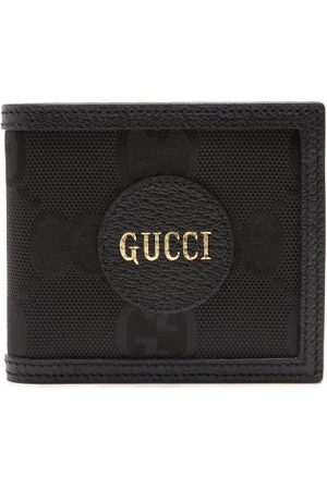 Gucci Logo-patch Large Gg-canvas Bifold Wallet - Mens - Black