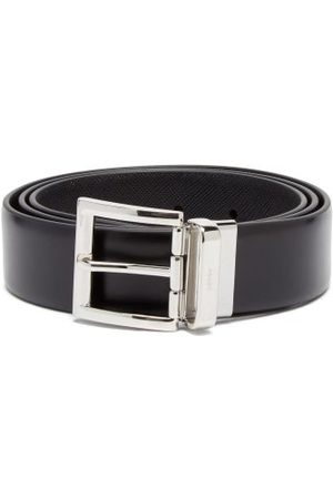 Prada Reversible Leather Belt - Mens - Black