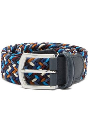 Anderson's Woven Elasticated Belt - Mens - Blue Multi