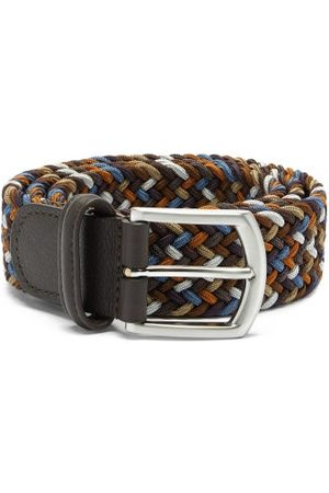 Anderson's Woven Elasticated Belt - Mens - Brown Multi