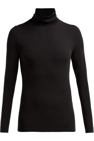 Wolford Roll-neck Top - Womens - Black