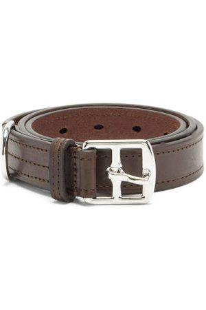 Anderson's Heren Riemen - Topstitched Leather Belt - Mens - Brown