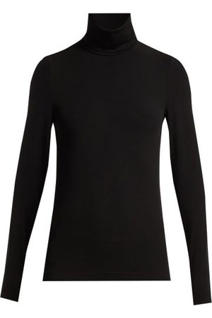 Wolford Dames Tops & Shirts - Aurora Roll-neck Jersey Top - Womens - Black