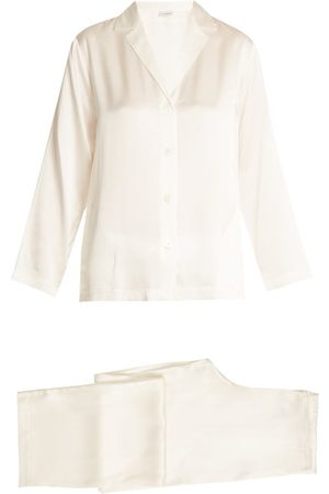La Perla Silk-satin Pyjamas - Womens - Ivory