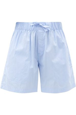 Tekla Organic-cotton Pyjama Shorts - Womens - Light Blue