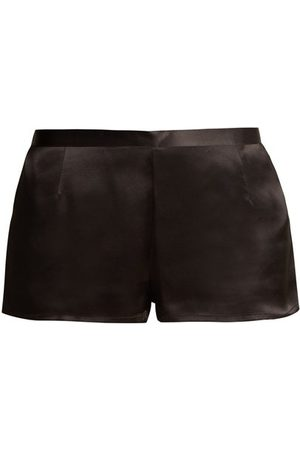 La Perla Dames Shorts - Silk-satin Pyjama Shorts - Womens - Black