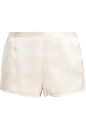La Perla Silk-satin Pyjama Shorts - Womens - Ivory