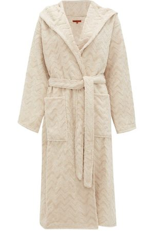Missoni Rex Zigzag-jacquard Cotton-terry Bathrobe - Womens - Cream