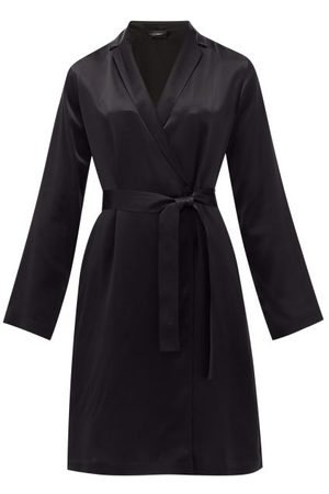 La Perla Dames Shorts - Belted Short Silk Robe - Womens - Black