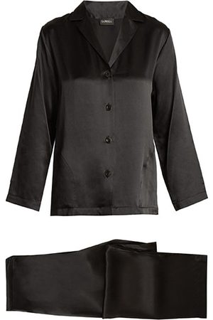 La Perla Silk-satin Pyjamas - Womens - Black