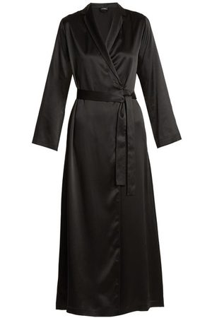 La Perla Silk-satin Robe - Womens - Black