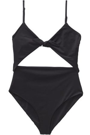 Mara Hoffman Kia Knotted Swimsuit - Womens - Black