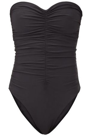 Jade Swim Dames Badpakken - Yara Ruched Strapless Swimsuit - Womens - Black
