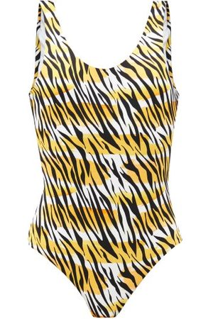Reina Olga For A Rainy Day Scoop-back Leopard-print Swimsuit - Womens - White Print