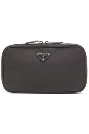 Prada Nylon Wash Bag - Womens - Black Blue