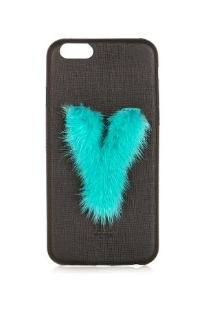Fendi Dames Telefoon - Leather Iphone® 6 Case - Womens - Black Green