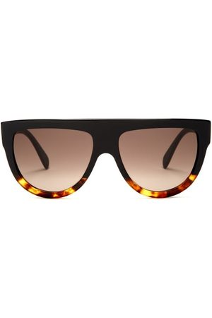 Céline D-frame Acetate Sunglasses - Womens - Black Multi