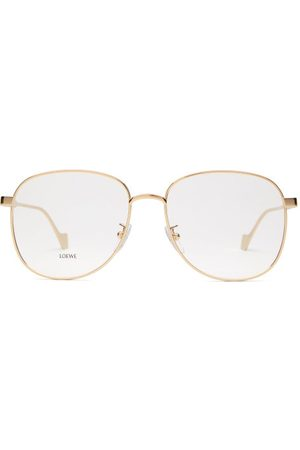 Loewe Dames Zonnebrillen - Aviator Metal Glasses - Womens - Gold