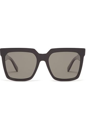 Céline Dames Zonnebrillen - Oversized Square Acetate Sunglasses - Womens - Black
