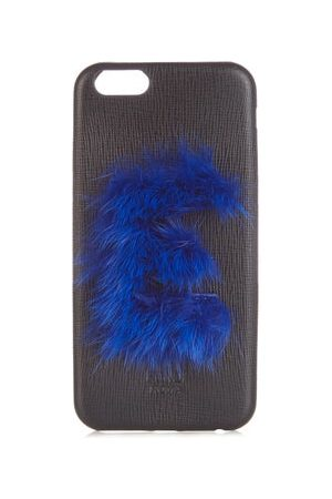 Fendi Leather Iphone® 6 Case - Womens - Black Purple
