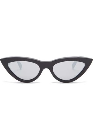 Céline Dames Zonnebrillen - Mirrored Cat-eye Acetate Sunglasses - Womens - Black