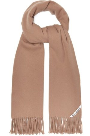 Acne Studios Canada Fringed Cashmere Scarf - Womens - Camel