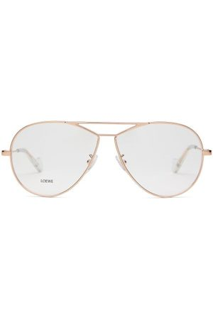 Loewe Dames Zonnebrillen - Teardrop Aviator Glasses - Womens - Rose Gold