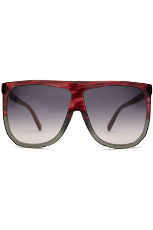 Loewe Dames Zonnebrillen - Filipa Flat-top Acetate Sunglasses - Womens - Red