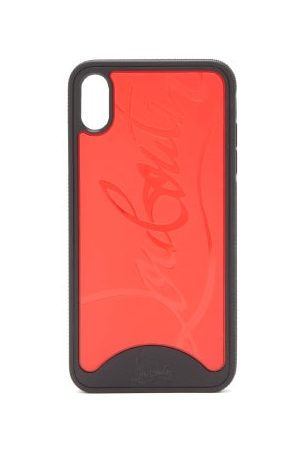 Christian Louboutin Loubiphone Sneakers Iphone® X & Xs Phone Case - Womens - Black Red