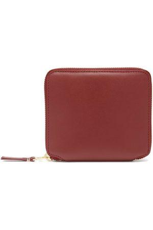 Comme des Garçons Leather Zip Wallet - Womens - Red