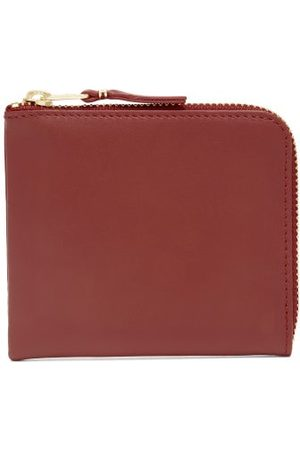 Comme des Garçons Dames Portemonnees - Zip-around Leather Wallet - Womens - Red