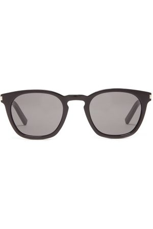 Saint Laurent Square Acetate Sunglasses - Womens - Black