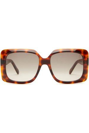 Céline Oversized Tortoiseshell-effect Acetate Sunglasses - Womens - Tortoiseshell
