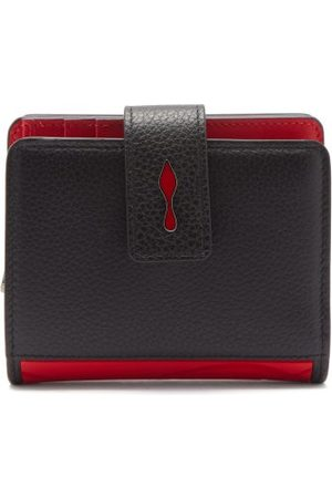 Christian Louboutin Paloma Logo-plaque Leather Wallet - Womens - Black Red